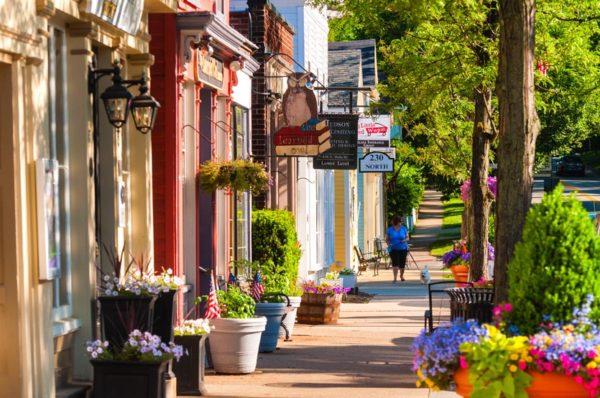 Historic downtown main street